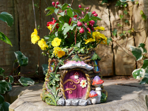 Magical Garden Fairy house planter pot