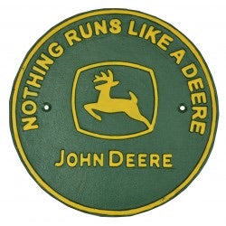 John Deere Tractor heavy cast iron sign
