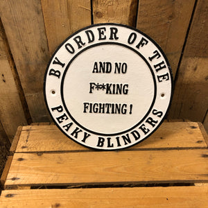 Peaky blinders heavy cast iron signk fighting
