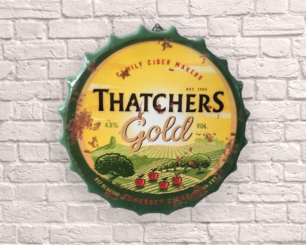 thatchers hanging giant bottle top