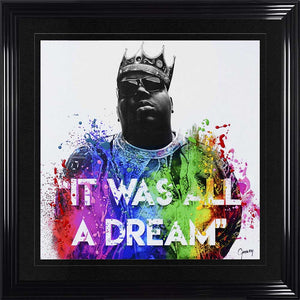 Biggie smalls notorious BIG Liquid Crystal Artwork Picture Black Frame