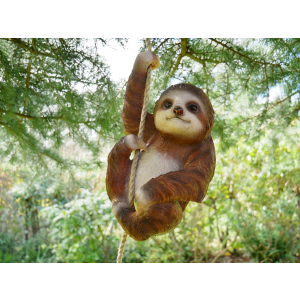 hanging garden sloth on a rope