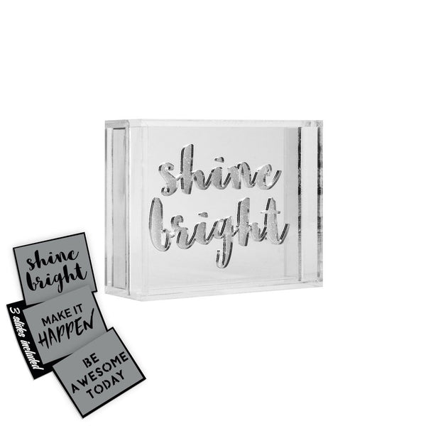 Mini acrylic light box 3 Motivational Slogans - Great college dorm gift