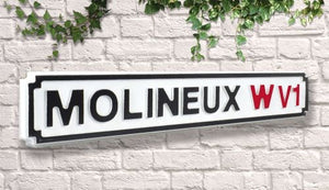 Wolverhampton Molineux Vintage wooden Road Street Sign