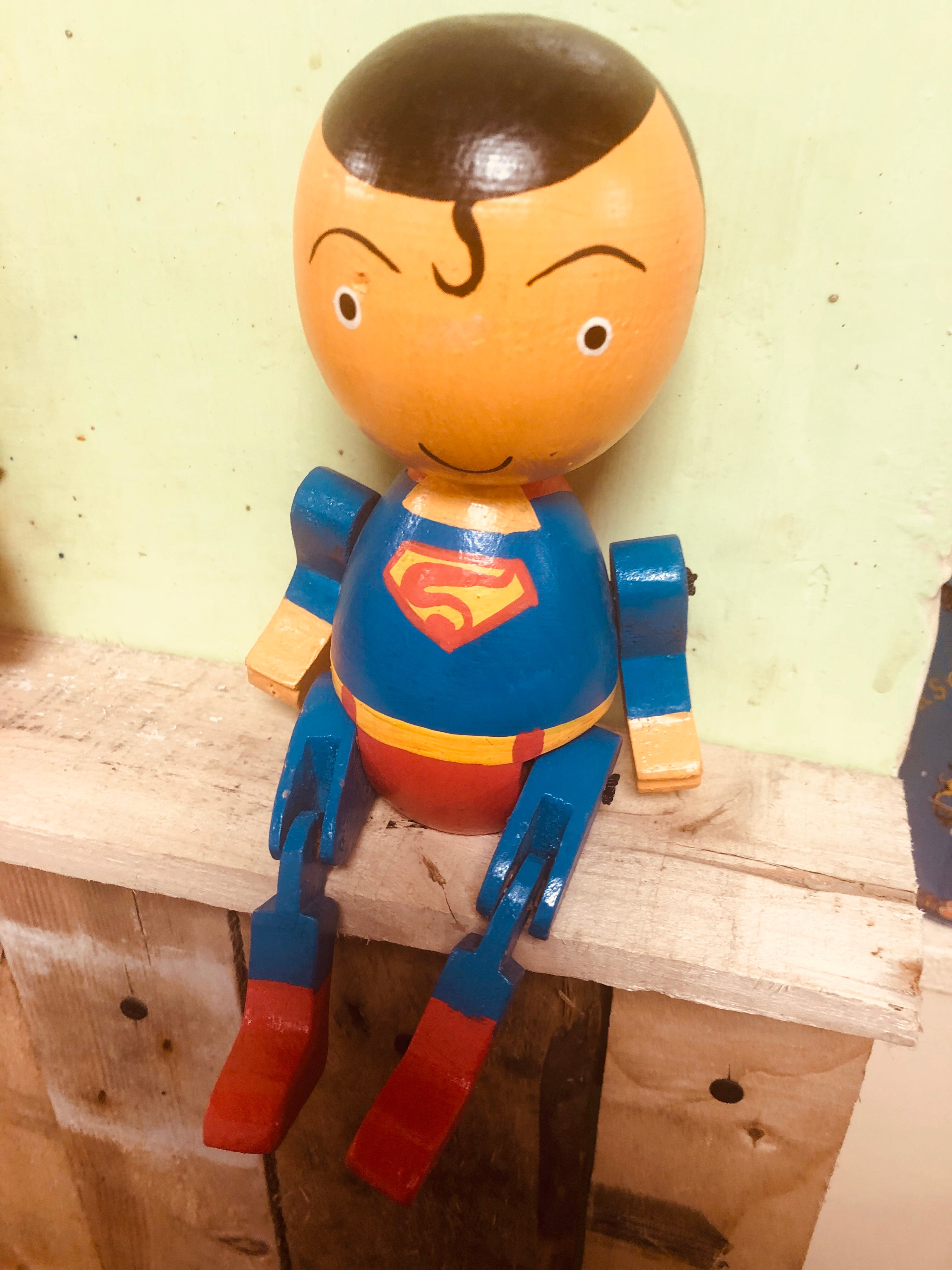 Hand painted articulated super hero's - various available