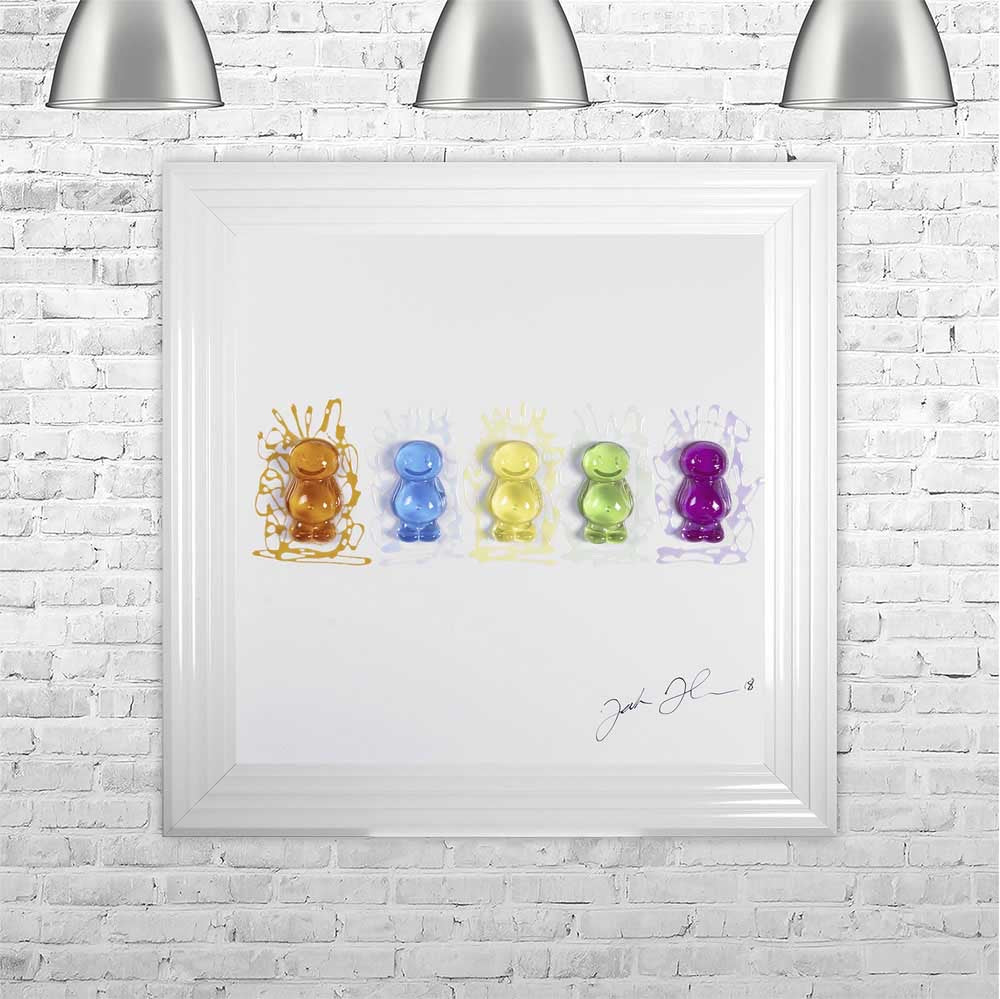 Jake Johnson Jelly Babies Wall Art Picture 75x75cm