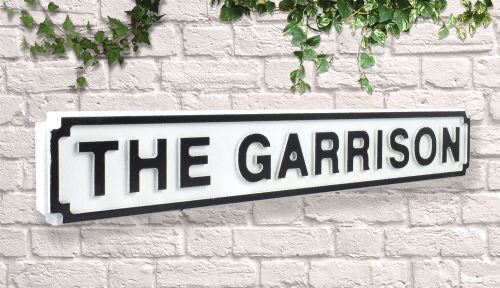 The Garrison Vintage style wooden street sign