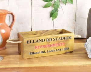 Elland rd Leeds United wooden storage box