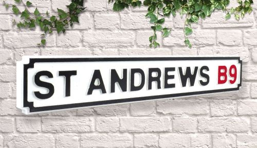 Birmingham City Blues St Andrews Vintage wooden Road Street Sign