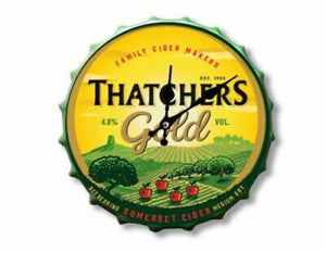 Thatchers Cider Bottle top Clock 30cm