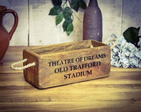 Manchester United theatre of dreams wooden storage box