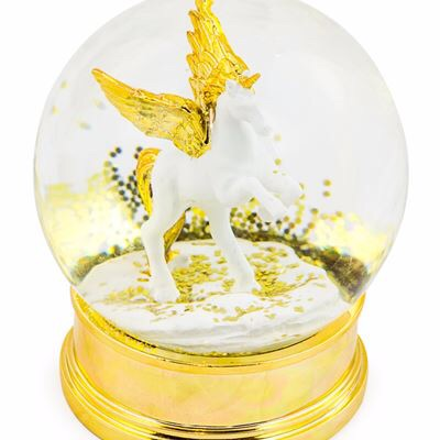 Beautiful unicorn snow globe