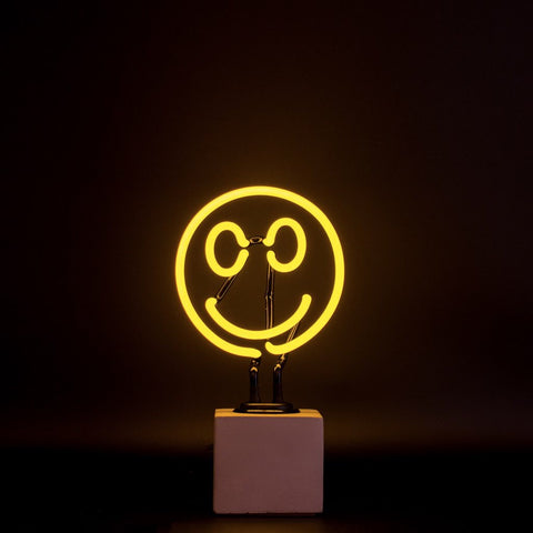 neon smiley face light lamp