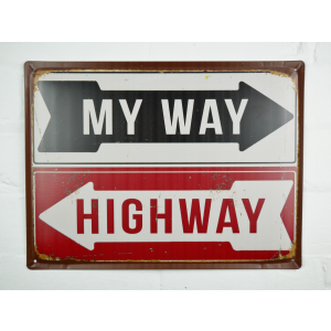 my way highway sign metal