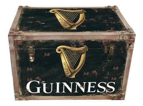 Guinness strapped chest storage trunk