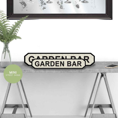 Garden Bar street road sign