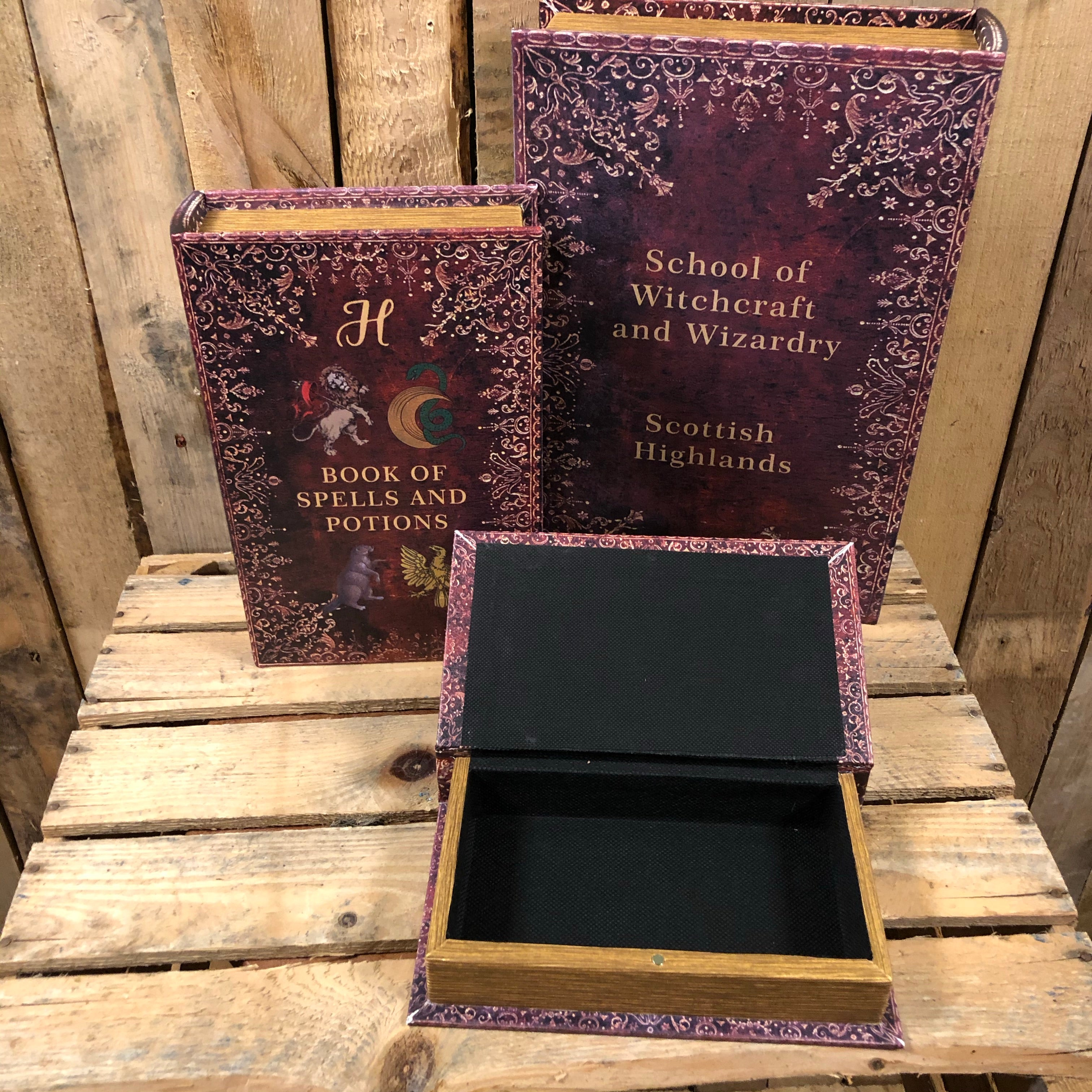 Harry Potter Spells and Potions Secret Book Box Storage