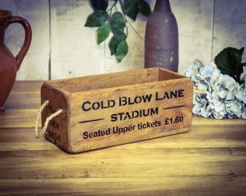 Millwall cold blow lane wooden storage box