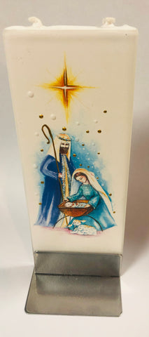 Nativity Christmas Flatyz Handmade Decorative Flat Candles