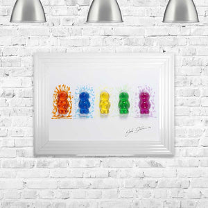 Jake Johnson Jelly Babies Wall Art Picture 55cx75cm