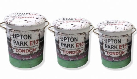 Upton Park Stadium West Ham storage stool / tub / barrel seating