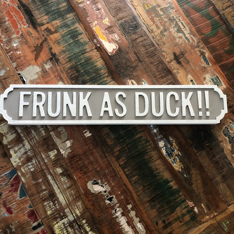 Frunk as Duck street road sign