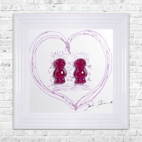 Jelly Baby 3D Resin Art - 2 Ladies / 2 Girls 55x55cm