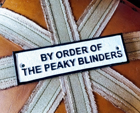 Peaky blinders heavy cast iron sign