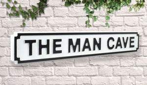 The Man Cave Vintage style Bar wooden street sign