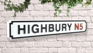 arsenal highbury stadium street sign