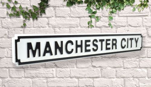 Manchester City Vintage style wooden street sign