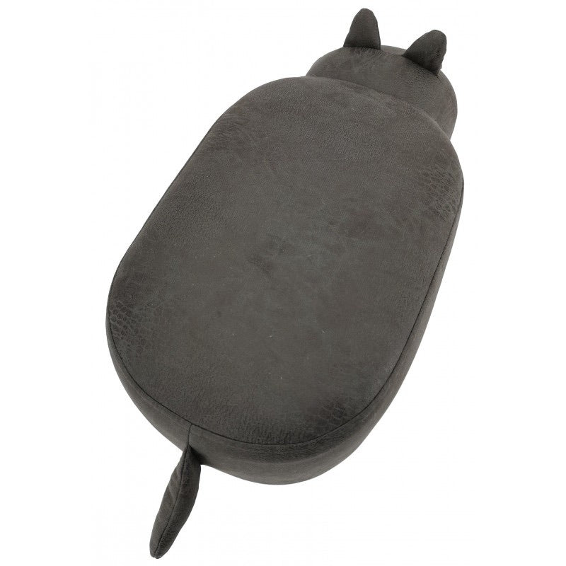 suede animal footstool - grey hippo Stool