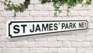 Newcastle st james park street sign