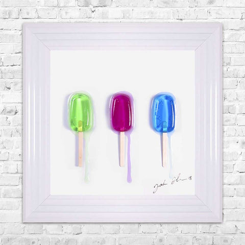 Jake Johnson Ice Lollies Wall Art Picture 55x55cm