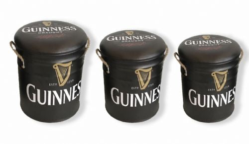 Guiness seat storage stool / tub / barrel