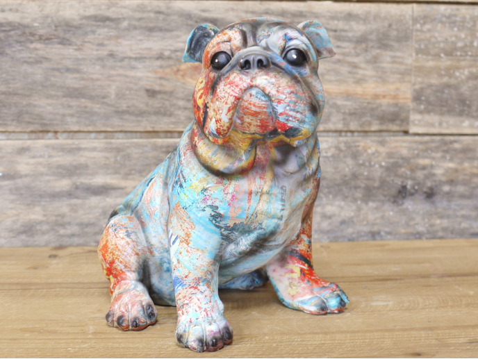 paint splash bulldog
