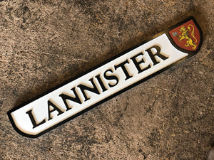 Lannister Game of Thrones wooden sign