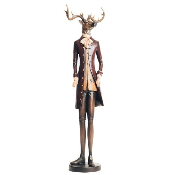Hunted become the Hunter Hand Painted Tall Stag Figure