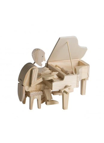 Timberkits Pianist Mechanical Wooden Piano Model Self Build Kit