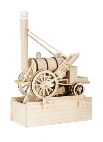 Timberkits Stephenson's Rocket Mechanical Wooden Train Model Self Build Kit