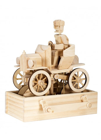 Timberkits Vintage Car Mechanical Wooden Model Self Build Kit