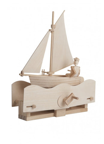 Timberkits Salty Sailor Boat Mechanical Wooden Model Self Build Kit