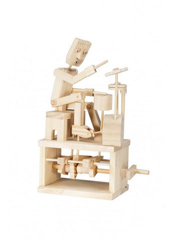 Timberkits Drummer Mechanical Wooden Model Self Build Kit