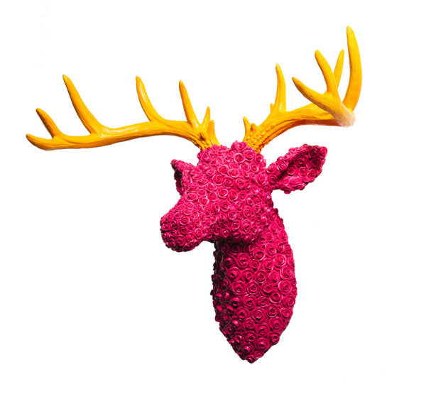 Rose Stag Head Wall Mount