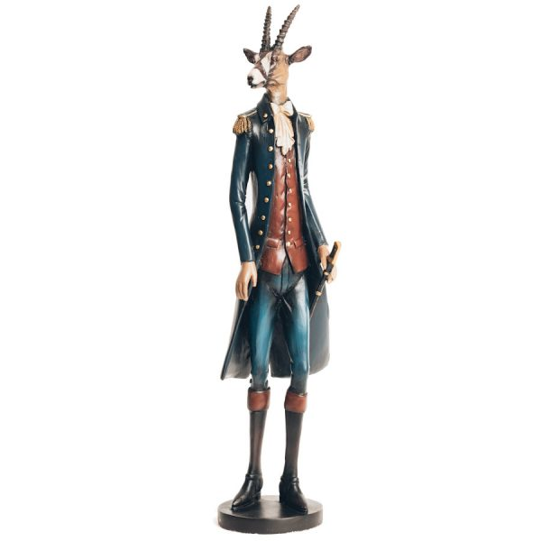 Hunted become the Hunter Hand Painted Antelope Figure