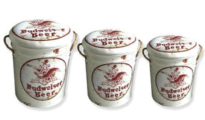 Budweiser beer storage stool / tub / barrel