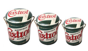 Castrol storage stool / tub / barrel