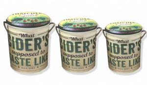 Thatchers gold Cider storage stool / tub / barrel seating