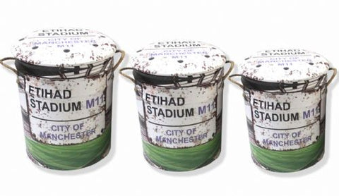 Ethiad stadium Manchester city storage stool / tub / barrel