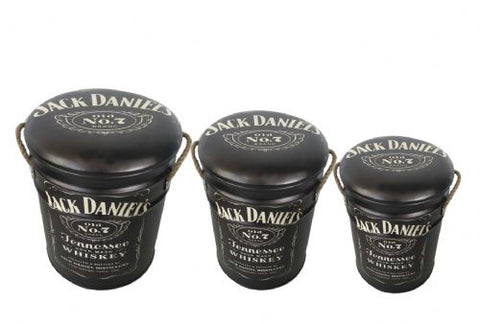 Jack Daniel's JD storage stool / tub / barrel seating